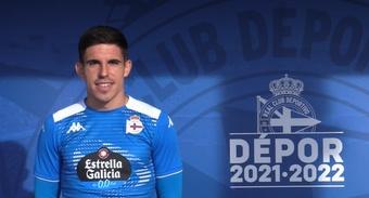 Víctor García reconoció que se sintió cómodo de lateral derecho. Captura/RCDeportivo