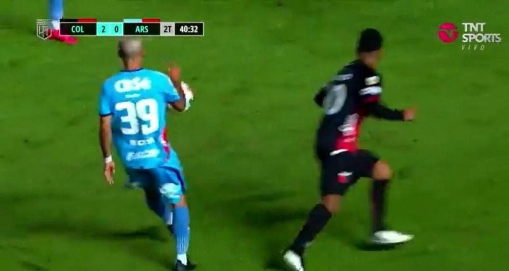 Colón ganó 2-0 a Arsenal de Sarandí. Captura/TNTSports