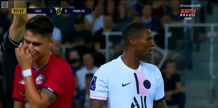 Wijnaldum debutó en partido oficial con el PSG. Captura/ESPN