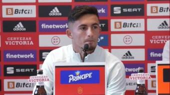 Yéremy Pino foi destaque na coletiva após a classificação. Twitter/SeFutbol
