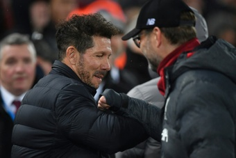 Jurgen Klopp and Diego Simeone are preparing to go head-to-head in the Champions League again. AFP
