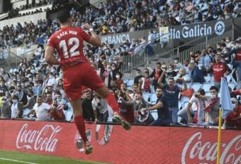 Rafa Mir was Sevilla's hero at Balaidos. AFP