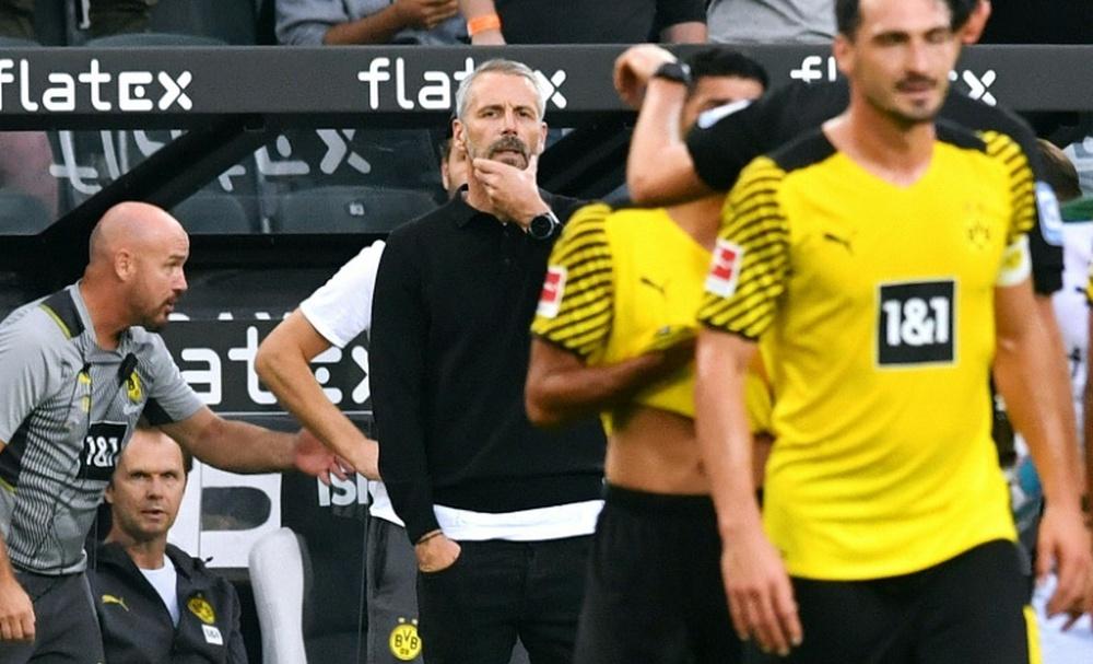 Dortmund were beaten by Gladbach in the Bundesliga. AFP