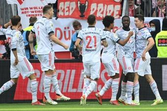 Bayern Munich's four goals in eight minutes killed off Leverkusen. AFP