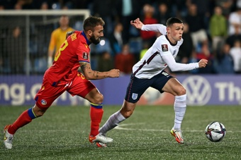 Foden ran the midfield against Andorra. AFP