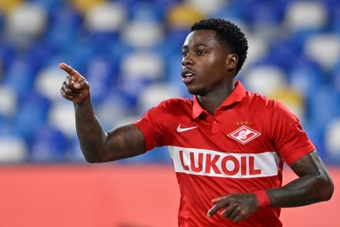 Quincy Promes struck twice for Spartak Moscow against Napoli. AFP