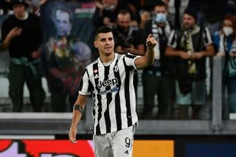 Morata has scored three times so far this season for Juventus. AFP