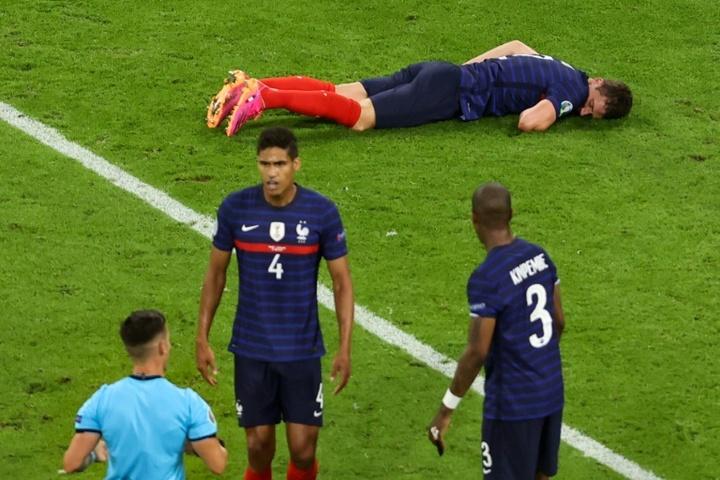 UEFA say concussion protocol was followed with Benjamin Pavard. AFP