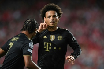 Leroy Sane scored twice as Bayern overpowered Benfica in the second half in Lisbon. AFP