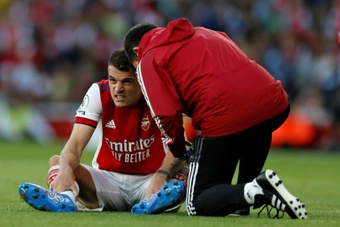 Arsenal's Xhaka ruled out for three months. AFP