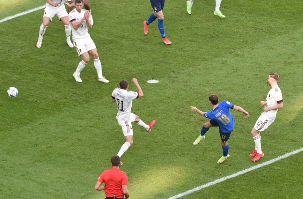 Barella and Berardi scored for the 'Azzurri'. AFP