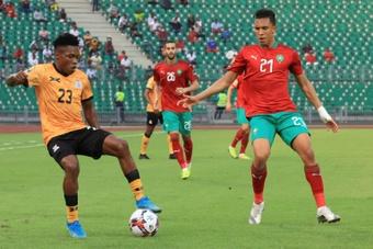 Casablanca star Soufiane Rahimi (R) plays his international football for Morocco. AFP