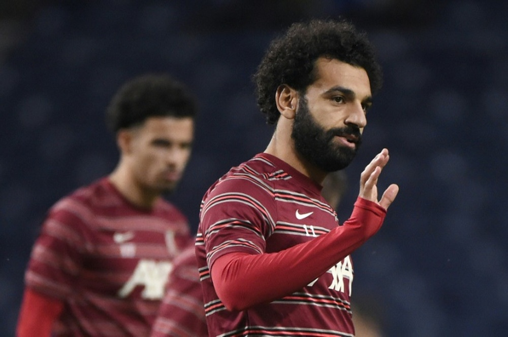 Mo Salah is focussing on upcoming games ahead of transfer speculation. AFP