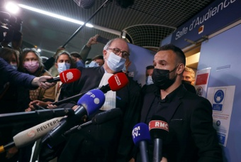 The alleged mastermind apologised to Valbuena. AFP
