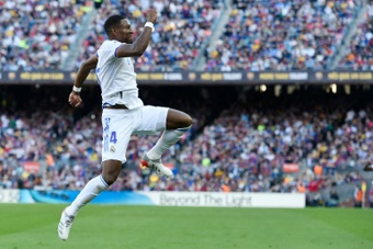 David Alaba scored in Real Madrid's 1-2 win at Barcelona. AFP