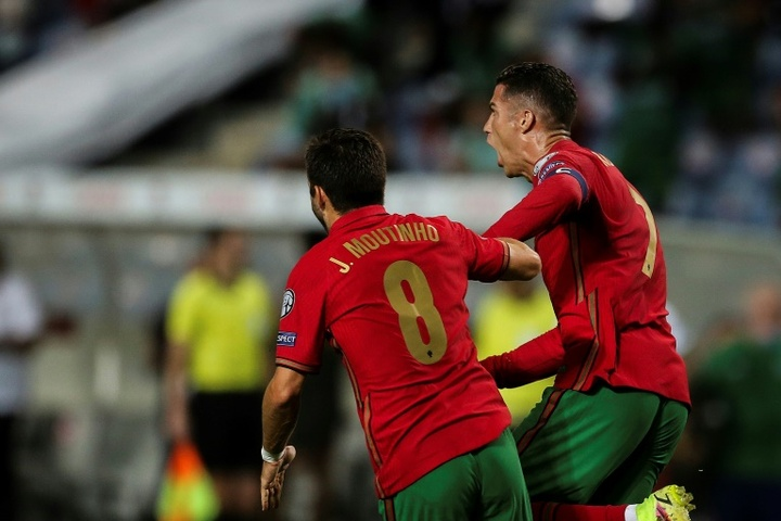 Cristiano Ronaldo scored a dramatic late double to take his tally to 111 international goals. AFP