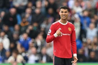 Cristiano Ronaldo's wax figure has the Juventus shirt instead of the Man Utd one. AFP