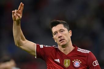 Robert Lewandowski scored twice for Bayern Munich on Wednesday. AFP