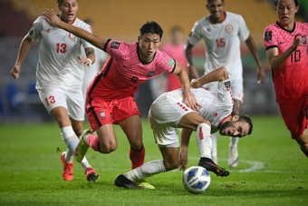 Kwon Chang-hoon scored the only goal of the game. AFP
