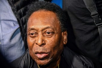 Pele has left hospital but will continue to undergo chemotherapy. AFP
