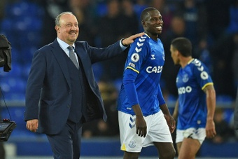 Abdoulaye Doucoure has been in fine form for Everton this season. AFP