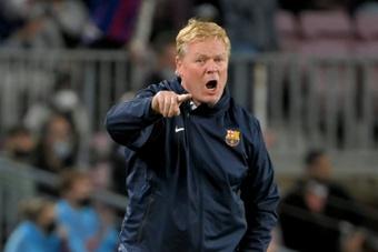 Koeman believes Barça can win the league. AFP
