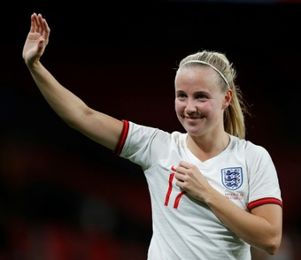 Beth Mead scored a hat-trick. AFP