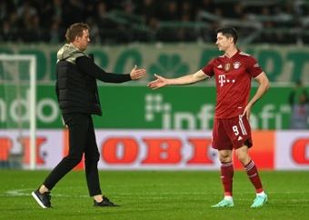 Lewandowski backed for Ballon d'Or ahead of Leverkusen clash. AFP