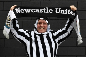 Newcastle fans celebrated the clubs takeover by the Saudi sovereign wealth fund. AFP