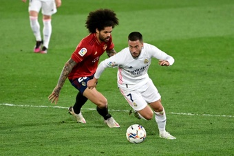 Eden Hazard started and played more than 70 minutes in the win over Osasuna. AFP