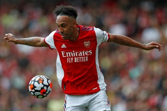 PIerre-Emerick Aubameyang was the man of the match for Arsenal at WBA. AFP