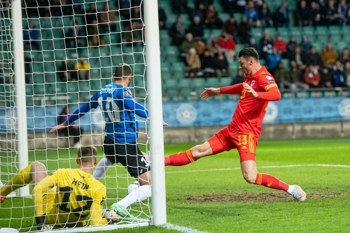 Kieffer Moores scrappy first-half goal was enough for Wales to see off Estonia. AFP