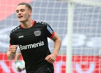 Florian Wirtz scored as Leverkusen beat Augsburg 1-3. AFP