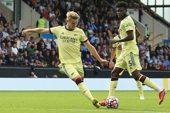 Martin Odegaard has been key to Arsenal recovering after a poor start. AFP
