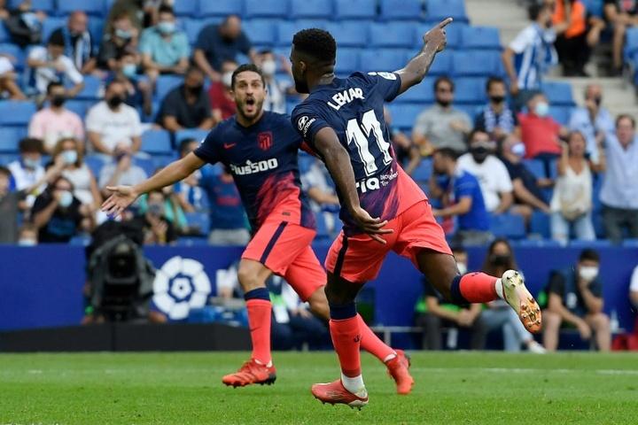 Thomas Lemar scored as Atletico beat Espanyol 1-2. AFP