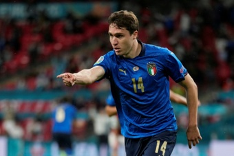 Federico Chiesa scored as Italy beat Austria in extra-time. AFP