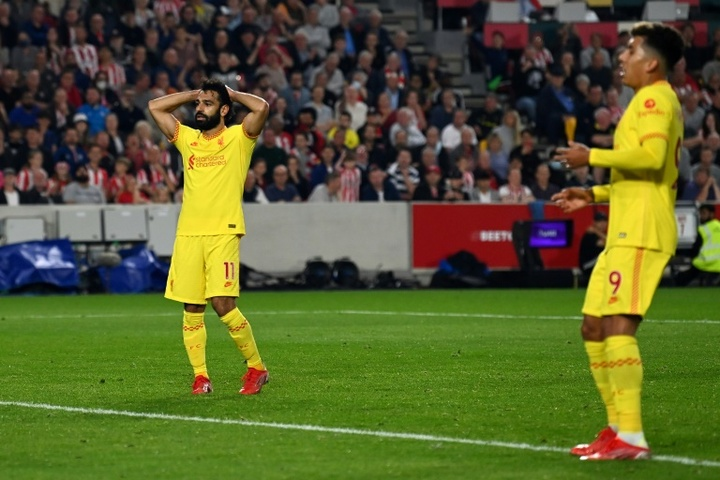 Liverpool were held by Brentford in a thrilling 3-3 draw. AFP