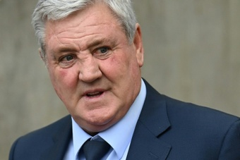 Steve Bruce has left Newcastle by mutual consent. AFP