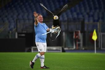Lazio mascot handler praises Mussolini. AFP