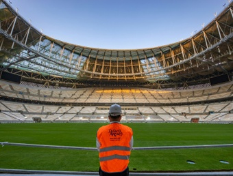 Lusail Stadium the 80,000-capacity venue that will host the World Cup final in December 2022. AFP