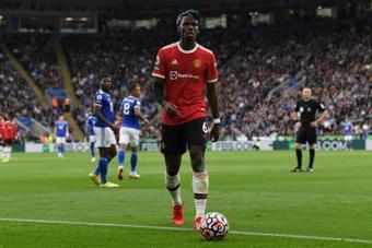 Pogba on United's performance against Atalanta. AFP