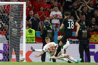 Goretzka's late equaliser sent Germany through to the last 16. AFP