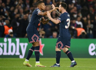 Kylian Mbappe and Lionel Messi made the difference as PSG came from behind to beat RB Leipzig. AFP