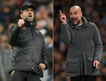 Guardiola praises Liverpool's boss, Jurgen Klopp. AFP