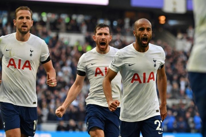 Tottenham got a vital 2-1 victory over Aston Villa. AFP