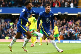 Chelsea were hit Norwich for seven at Stamford Bridge. AFP