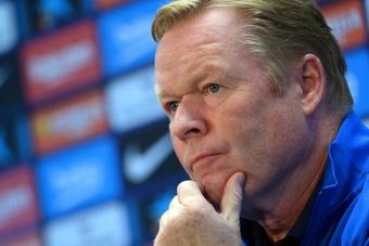 Koeman is under pressure to face Real Madrid. AFP
