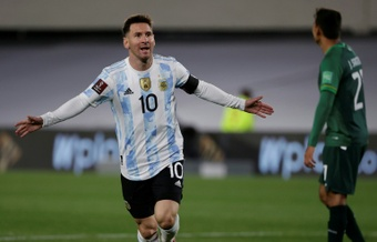 Messi breaks Pele record as Argentina rout Bolivia, Brazil stroll. AFP