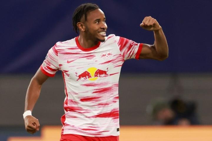 Nkunku scored twice on Sunday. AFP