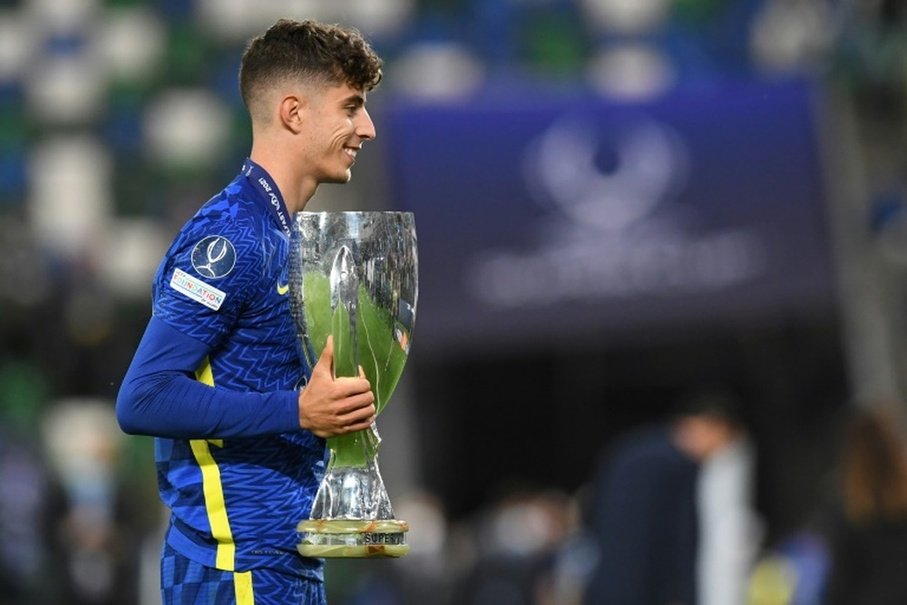 Kai Havertz will auction his boots for Germany's flood relief. AFP